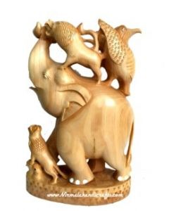 Wooden Elephant Shikar Figer