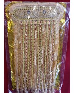 Sehra With Golden  Maroon And White Pearls 1