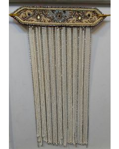 Sehra With Golden And Cream Pearls And A Zarkan Ik Omkar Made On It 1