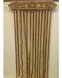 Sehra With Golden  Maroon And Cream Pearls 1