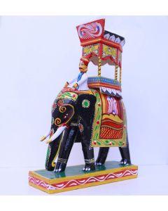 True Facility Kondapalli Handicrafts - Handmade Wooden Elephant Showpiece Size 7 Inches  Crafts of Andhra Pradesh  Home Decor  Indian Wooden Handicrafts  Indian Crafts