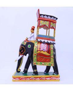 True Facility Kondapalli Handicrafts - Handmade Wooden Elephant Showpiece Size 9 Inches  Crafts of Andhra Pradesh  Home Decor  Indian Wooden Handicrafts  Indian Crafts