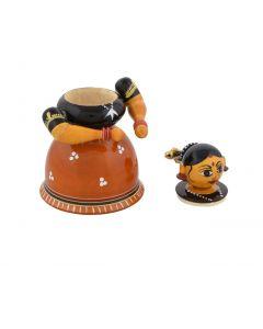 True Facility Wooden Hand Crafted Kondapalli Kumkum Doll (4 inch)