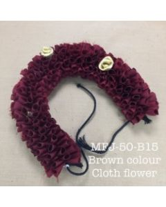 Brown color With Black Thread Artificial Cloth Flowers For Dance Set By Online