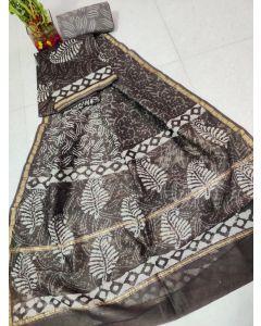 Kalamkari Hand Painted Uppada Silk Saree(Natural Vegetables Colors Used )219
