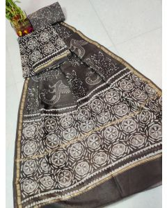 Kalamkari Hand Painted Uppada Silk Saree(Natural Vegetables Colors Used )221