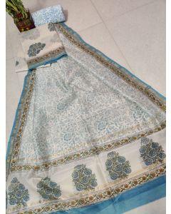 Kalamkari Hand Painted Uppada Silk Saree(Natural Vegetables Colors Used )222