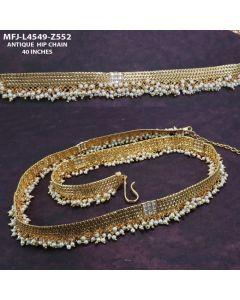 Cz Stones With Pearls Designer Antique Hip Belt Buy Online12919