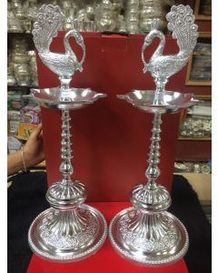 Pair German Silver Washable Deepam Heavy Gage