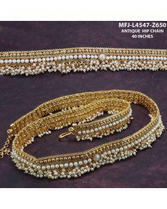 Designer Antique Hip Belt With Pearls Buy Online12919