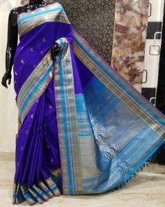 Kalamkari Hand Painted Uppada Silk Saree(Natural Vegetables Colors Used )223