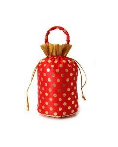 Potli Bag – Golden Dots -25 per pack