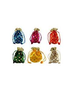 Women's Silk Tikki Potli Bags (Set of 6 )