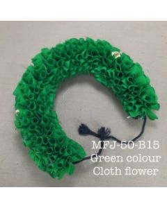 Green color With Black Thread Artificial Cloth Flowers For Dance Set By Online