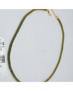 Green Color Crystal Stones Golden Polish Chain Online12919