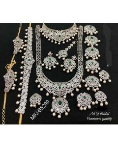 White Combo Bridal Set Buy Online 12919