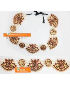 Kempu Stone Oddiyanam  Temple Oddiyanam  Dance Jewelry Online