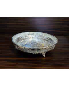 German silver washable flower design  Plates - 10 inch ,  14 inch,