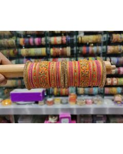 Customized  Bangles based on your Sari or any color of your choice Buy Online -12