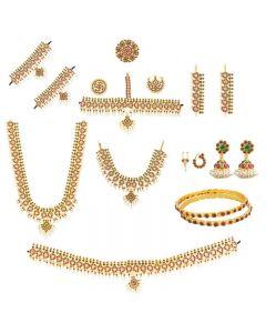 Mango Design Bharatanatyam Jewelry   Dance Jewellery Full Set Online