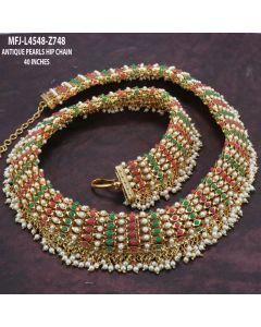 Multi Color Stones With Pearls Designer Antique Hip Belt Buy Online12919