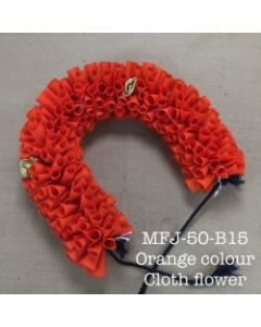 Orange  color With Black Thread Artificial Cloth Flowers For Dance Set By Online