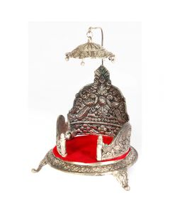 Oxidised singhasan with chatra