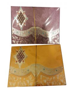 Glossy Finish Handmade Paper Perfumed Envelopes With A Golden Design (Pack of 10)