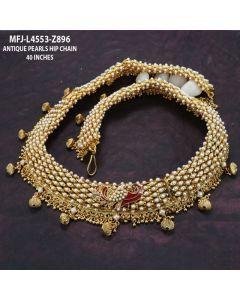 Peacock Design Antique Hip Belt With Pearls Buy Online12919