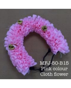 Pink  color With Black Thread Artificial Cloth Flowers For Dance Set By Online