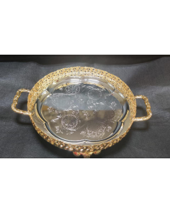 Imported Tray | Plate- impressive imported German silver tray 12inch