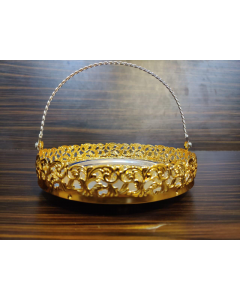 Imported Tray |Gold Plate with Handle impressive imported German silver tray 12inch