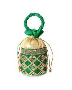 Potli Bag – Chamki Diamond work with Thread Handle -50 per pack