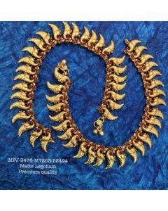 Premium Quality Ruby Stones With Matte Balls Peacocks Designer Mat Finish Ankletleg Chain Set Buy Online12919