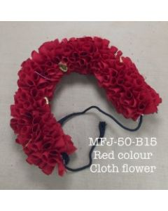 Red color With Black Thread Artificial Cloth Flowers For Dance Set By Online