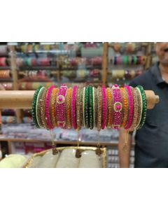Customized  Bangles based on your Sari or any color of your choice Buy Online -20