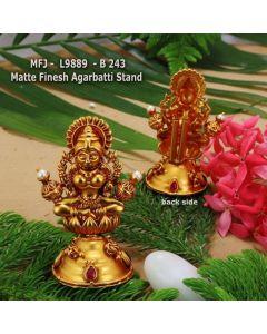 Ruby-Stoned-Lakshmi-Design-Matte-Finished-Agarabatti-Stand-Set-Online