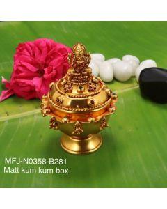 Rubyemerald-Stones-Mat-Finished-Lakshmi-Design-Kum-Kum-Box-Buy-Online