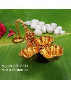 Rubyemerald-Stones-Mat-Finished-Lakshmi-With-Three-In-One-Design-Kum-Kum-Box-Buy-Online