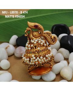 Rubyemerald-Stones-With-Pearls-Drops-Mat-Finished-Peacock-Design-Kum-Kum-Box-Buy-Online