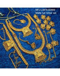 Ruby Emerald Stones Mango And Lakshmi Design Matt Finished Full Bridal Set Buy Online12919