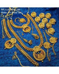 Ruby Stones With Golden Balls Lakshmi Design Matt Finished Full Bridal Set Buy Online12919