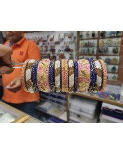 Customized  Bangles based on your Sari or any color of your choice Buy Online -21
