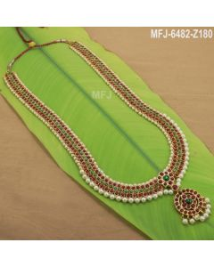 Temple Necklace Kempu Stone Necklace Dance Jewelry