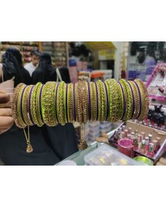 Customized  Bangles based on your Sari or any color of your choice Buy Online -22