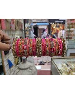 Customized  Bangles based on your Sari or any color of your choice Buy Online -23