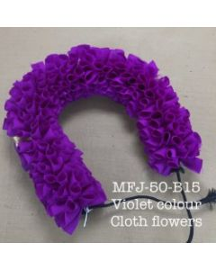 Violet  color With Black Thread Artificial Cloth Flowers For Dance Set By Online