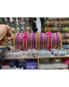 Customized  Bangles based on your Sari or any color of your choice Buy Online -24