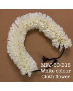 White color With Black Thread Artificial Cloth Flowers For Dance Set By Online