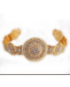 Red & White Stone Oddiyanam  Temple Oddiyanam  Dance Jewelry Online